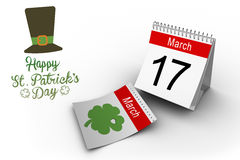 Composite image of shamrock images Stock Images