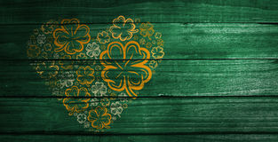Composite image of shamrock images heart Stock Images