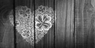 Composite image of shamrock images heart Royalty Free Stock Photography