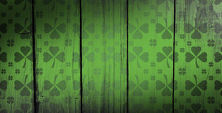 Composite image of shamrock images pattern Royalty Free Stock Image