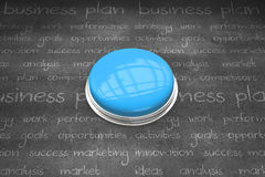 Composite image of shiny blue push button Royalty Free Stock Photo