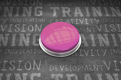 Composite image of shiny pink push button Stock Photos