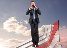 Composite image of shouting businessman Stock Photography