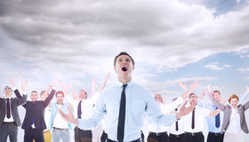 Composite image of shouting businessman Stock Image