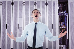 Composite image of shouting businessman Stock Images