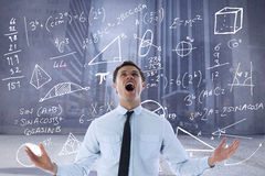 Composite image of shouting businessman Royalty Free Stock Photos