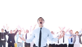 Composite image of shouting businessman Stock Photos