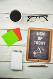 Composite image of sign up today Royalty Free Stock Image