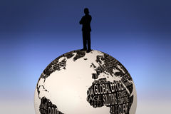 Composite image of silhouette of businessman Royalty Free Stock Image