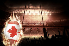Composite image of silhouettes of football supporters Stock Image