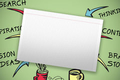 Composite image of single lined blank paper Stock Images