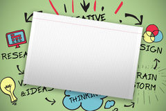 Composite image of single lined blank paper Royalty Free Stock Images