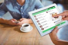 Composite image of smartphone app menu Stock Photos
