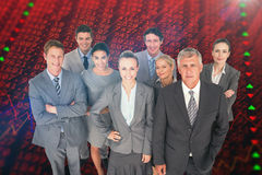 Composite image of smiling business people smiling at camera Stock Image