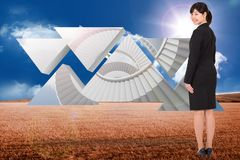 Composite image of smiling businesswoman Royalty Free Stock Image