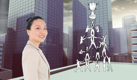 Composite image of smiling businesswoman Royalty Free Stock Photo