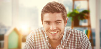 Composite image of smiling casual business man Royalty Free Stock Photo