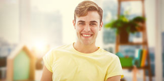 Composite image of smiling casual business man Stock Photos