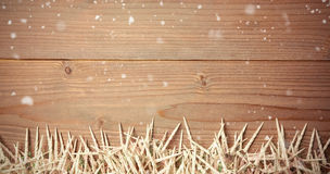 Composite image of snow falling Stock Images