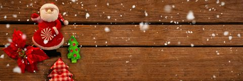 Composite image of snow falling Stock Photography
