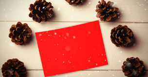Composite image of snow falling Royalty Free Stock Images