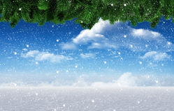 Composite image of snow falling Royalty Free Stock Image