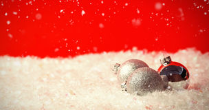 Composite image of snow falling Stock Image