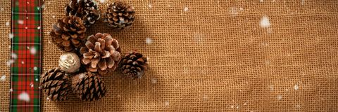 Composite image of snow falling Royalty Free Stock Photos