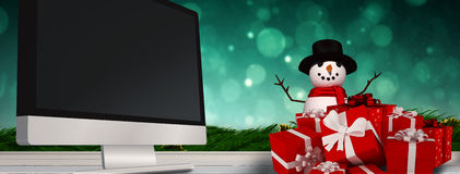 Composite image of snowman Stock Images