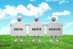 Composite image of social media answers Stock Image