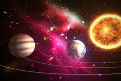 Composite image of solar system against white background 3d Stock Images