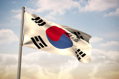 Composite image of south korea national flag Stock Photos