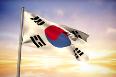 Composite image of south korea national flag Royalty Free Stock Photos