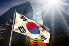 Composite image of south korea national flag Royalty Free Stock Image