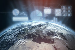 Composite image of space view of planet earth Royalty Free Stock Image