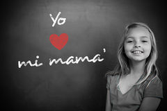 Composite image of spanish mothers day message Stock Photos