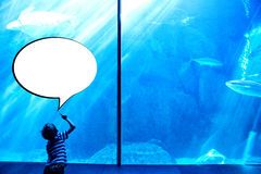 Composite image of speech bubble Royalty Free Stock Image