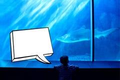 Composite image of speech bubble Stock Photos