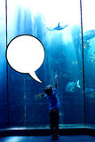 Composite image of speech bubble Royalty Free Stock Images
