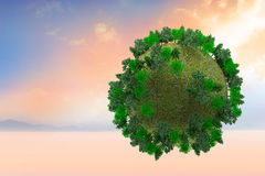Composite image of sphere covered with forest Royalty Free Stock Photos