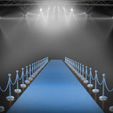 Composite image of spotlights. 3d Spotlights against black background with vignette Royalty Free Stock Photography