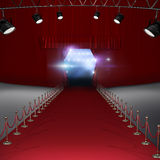 Composite image of spotlights. 3d Spotlights  against view of lights Stock Photo
