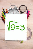Composite image of square root of three Stock Photography
