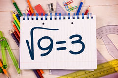 Composite image of square root of three Stock Image