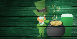 Composite image of st patricks day graphics Stock Photo