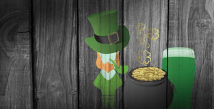 Composite image of st patricks day graphics Stock Photos