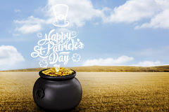 Composite image of st patricks day greeting Royalty Free Stock Images