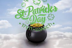 Composite image of st patricks day greeting Stock Images
