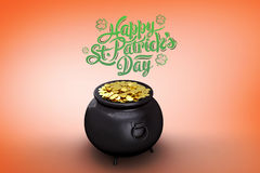 Composite image of st patricks day greeting Royalty Free Stock Photo