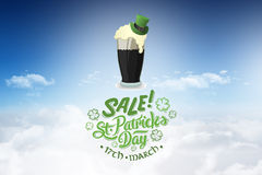 Composite image of st patricks day sale ad Stock Images